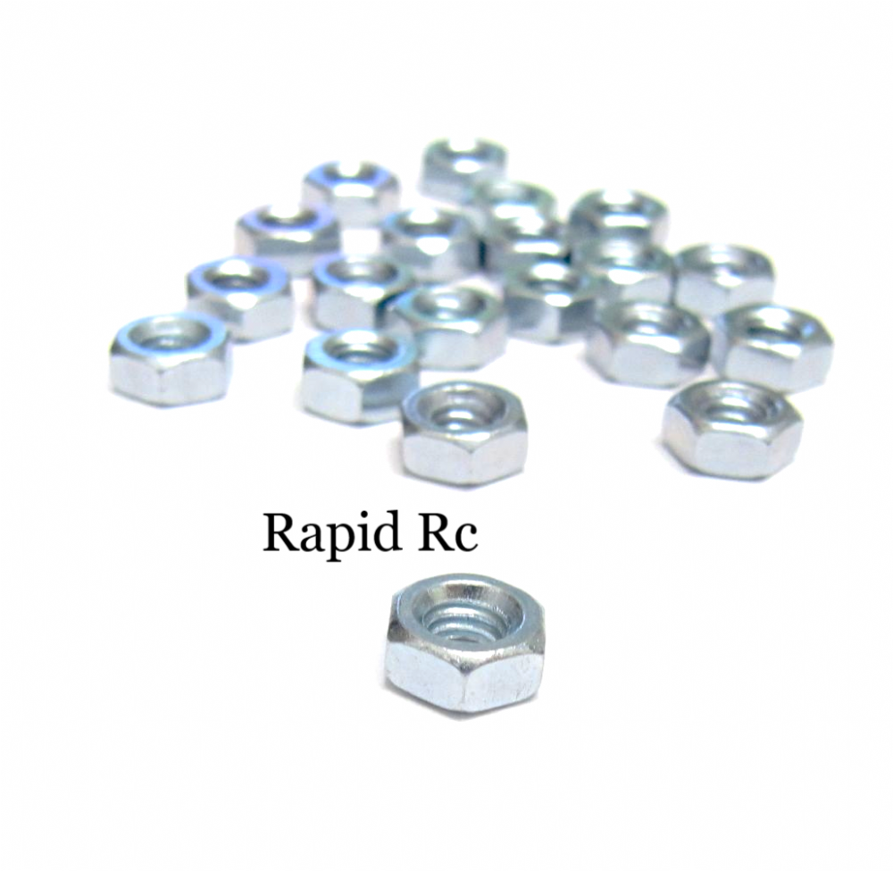 M4 Steel Hex Nuts Bright Zinc plated